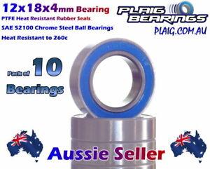12x18x4mm RC Bearings (10) B033 25591  98054 5120 91155 LOSA6956 MR6701-2RS