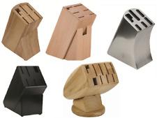 Messerblock ohne Messer Holz oder Edelstahl schwarz für 6 - 9 teiliges Messerset