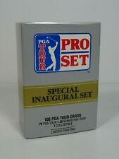 1990 PGA Tour Pro Set Special Inaugural Set 100 Trading Cards Opened Box