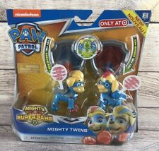 Paw Patrol Mighty Pups Super Paws Twins Figures Tuck & Ella - New