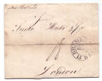 Vorphilabrief Bremen 1824 mit großem Schlüsselstempel nach London (411)