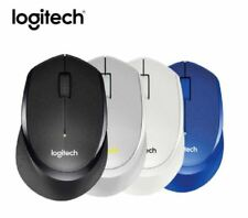 2019 Logitech M330 Silent Plus Wireless Mouse -light Gray & Black