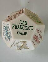 Vintage SAN FRANCISCO SOUVENIR 12 Sided Polygon Die w/ Landmarks