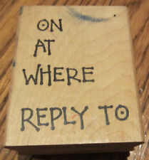 Annette Allen Watkins Party Invitation On At Where Reply To Wooden Rubber Stamp