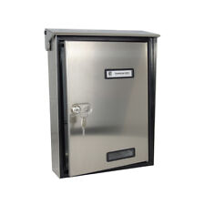 Italian S90 Wall mounted lockable secure post box in polished stainless steel