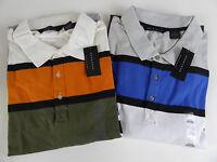 Sean John Core Striped Big / Tall Polo Shirt Cotton Blend Colorblock $69.50 NWT