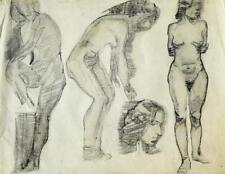 Karl Stachelscheid 1907-1970 Düsseldorf / Zeichnung Aktstudien Grazien / 1930-40
