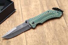 PUMA  TEC  Rettungsmesser / Taschenmesser + Gurtschneider - grün - NEU - 336813