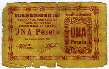 ☆ SPAIN CIVIL WAR 1937 • LA UNION 1 PTA MUNICIPAL ☆ GUERRA CIVIL ESPAÑOLA ☆C5025