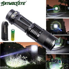CREE Q5 Zoomable 2500LM LED Flashlight Focus Torch Light 14500 Battery+Charger