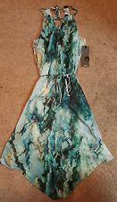Women's Regular Multi-Colored Asymmetrical Hem Dresses