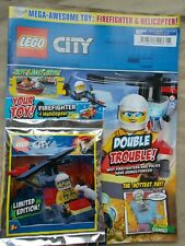 NEW THE LEGO CITY SPECIAL LIMITED EDN MAGAZINE EDS 15, MINIFIGURE MITB FIRE HELI