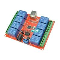 1/2/4/8 Ch 5V 10V USB Relay Programmable Computer Control Relay For Smart Home M