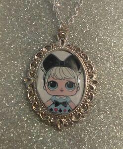 Silver Charm Necklace Pendant LOL L.O.L  Doll Curious Q.T Cutie