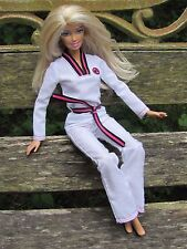 Mattel Blonde Barbie dressed in I Can Be Judo - Martial Arts Karate Outfit