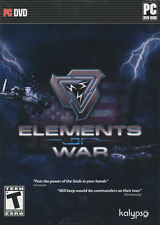 ELEMENTS OF WAR - Tactical Battlefield RTS Strategy PC Game - US Version - NEW
