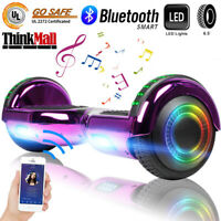 """Scooter 6.5"""" Self Balance Hoverboard Bluetooth LED No Bag Hoverboard Gift A02"""