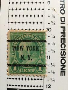 Usa stamp 1c raro perf10 nuovo soprastampa New York