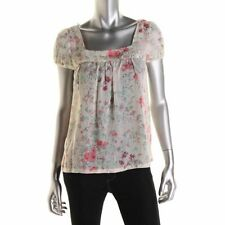 JESSICA SIMPSON NEW Lou Ivory Gathered Casual Top Shirt Juniors XS