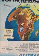 Pubblicità anni 60 ALITALIA airways italian aeroplano advertising africa