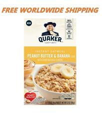 Quaker Instant Oatmeal Peanut Butter & Banana 6 CT 9.32 Oz FREE WORLD SHIPPING