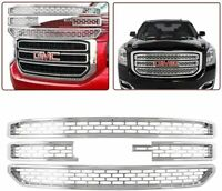 CHROME Snap On Grille Overlay Grill Covers Inserts Fits 2015-2020 GMC Yukon XL