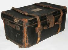 Edwardian Leather Bound Travel Trunk - FREE P&P [PL1901]