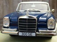 Revell 1960s Mercedes Benz 300SE W112 Rare BLUE 1:18 Diecast Detailed Car Model