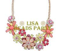 Hot Fashion Charm Jewelry Colorized Flowers Shape Pendants Bib Chain Necklace