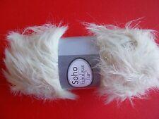 Herrschners Soho Fabulous Fur fuzzy eyelash yarn, Ecru, 1 skein (109 yds)
