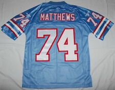 BRUCE MATTHEWS HOUSTON OILERS NFL REEBOK SEWN THROWBACK JERSEY M