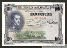 Spain 100 Pesetas 1925 Pr / Xf  pn F Serial 69c