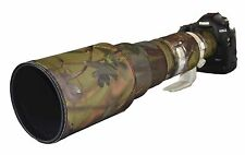 Canon 500mm f4.5 L (non IS) neoprene lens camouflage coat cover Woodland / black
