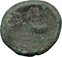 Pella Macedonia Capital 158BC  Apollo & Tripod Ancient Greek Coin i31969