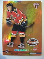 2001-02 TITANIUM DRAFT DAY EDITION NIKLAS HAGMAN # 131 PANTHERS 048/780  BOX 52