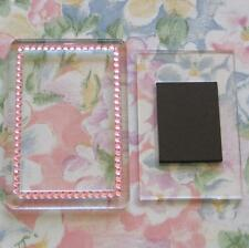 50x Blank Pink Gemstone Acrylic Magnets 81x55mm Frame Size & 70x45mm Photo Size