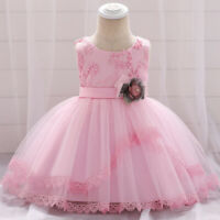 Newborn Baby Girl Dress Floral Baptism Dress Toddler Gril Birthday Party Wedding
