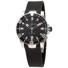 Ulysse Nardin Lady Diver Black Wave Dial Automatic Ladies Rubber Watch