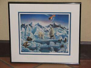 "Larry B Moore ""Wild Arctic"" at Sea World Ltd. Edition Polar Bear Framed Print"