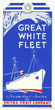 Vintage colorful Great White Fleet luggage tag, art deco '40s?