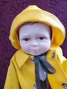 """Vintage 1983 Artist L. Garrard """"Widdle Wain"""" Boy Doll Limited Edition Nice"""