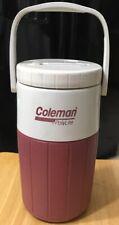 Vintage Coleman Polylite Burgundy  5590 1/2 Gallon Water Jug Cooler Thermos