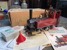 Live Steam MSS Maroon G1 Locomotive Loco. Railway Model - Mamod Steam Rail Engin