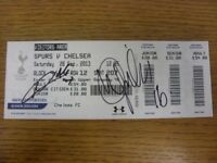 28/09/2013 Ticket: Tottenham Hotspur v Chelsea [Hand Signed To Front By Marco Va