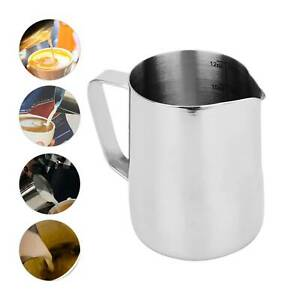 Stainless Steel Milk Frothing Jug Coffee Mug Frother Latte Foam Cup 350ml