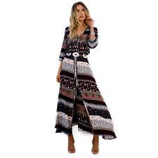 Women BOHO Gypsy Summer Long Maxi Dress Lady Evening Party Beach Sundress S-3XL