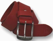 ¡Nuevo! Vittozzi Buffalo Cinturón de Cuero 40Mm Rojo Largo 85 / 90/95/100/105