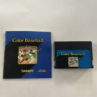RARE Color Baseball for Radio Shack Tandy TRS-80 Color Computer 26-3095 w/Manual