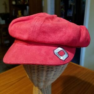 Nike Sample Ohio State Suede Red Cap Hat One Size 2003 rare first prototype