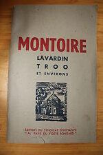 Régionalisme Montoire, Lavardin, Troo et environs Brochure touristique 1949